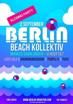 Berlin Beach Kollektiv Klosing Party