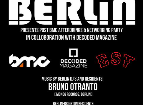 Berlin & Decoded Magazine Hook Up For A Brighton Music Conference Afterparty
