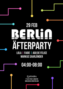 Afterparty flyer