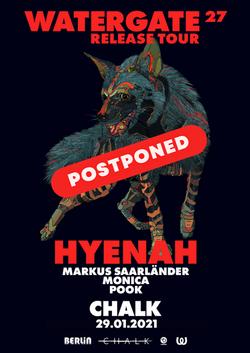 Watergate Postponed Flyer