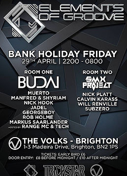 Markus to rejoin Elements of Groove @ The Volks