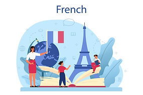 ilustracion-concepto-aprendizaje-frances