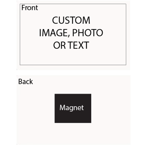 "Personalized Aluminum Magnet (2"" x 3"")"