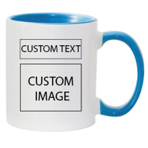 15 Oz. Personalized Mug - Colored inner and handle