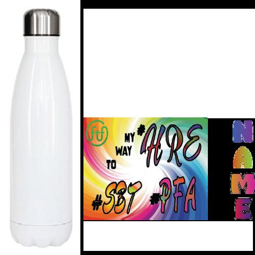 500 ml High Grade Stainless Steel Insulated Water Bottle - White FTF