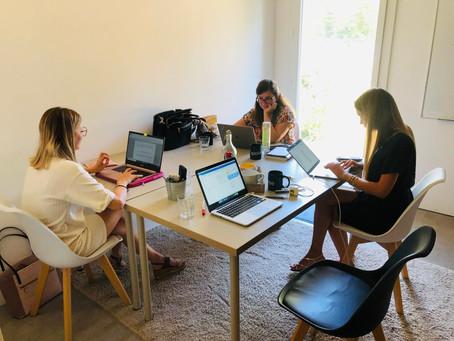 Retrouvailles studieuses de l'équipe sur Aix en Provence