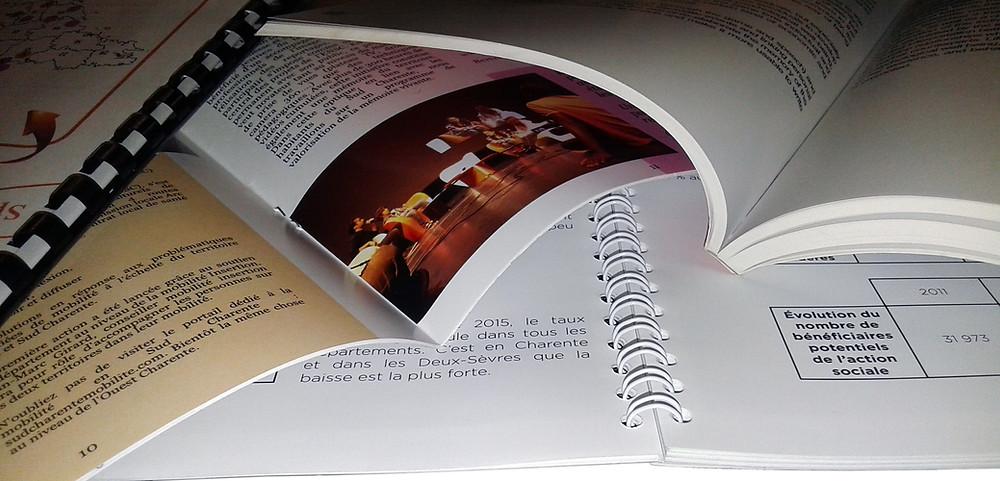 Imprim16 vous propose différents types de reliures