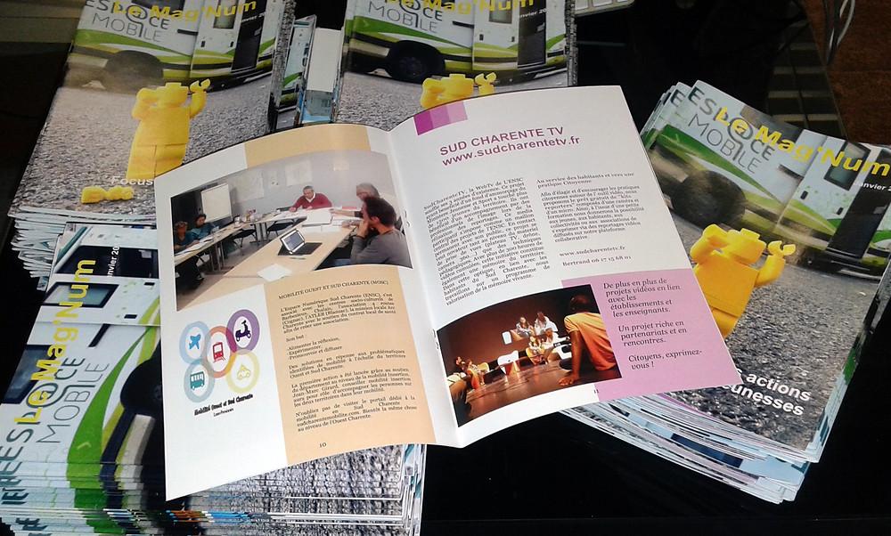 200 brochures agrafées, 20 pages.