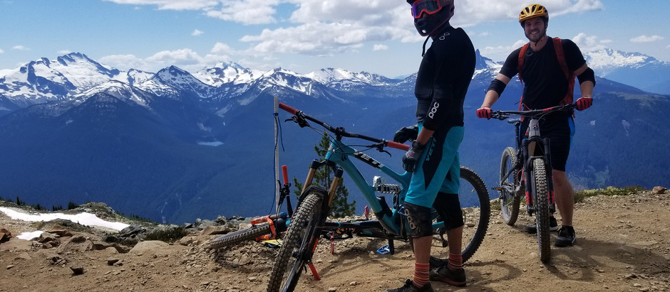Riding with friends in British Columbia
