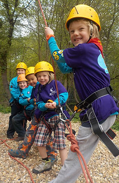 A Beaver Group enjoying High Ropes
