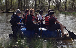Raft Building Team Activity Day