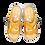 Thumbnail: Krisbut Pantolette 7052-3-1 Gelb