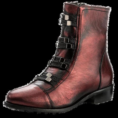 EKSBUT Damen Stiefelette Rot Metallic F95