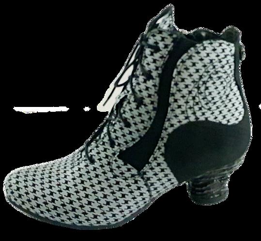 SIMEN Komfort-Stiefelette 3032A Weiß/Schwarz Weite G