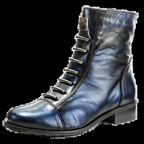 EKSBUT Damen Stiefelette Blau Metallic F63