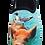 Thumbnail: SCHUHKÖNIG Hausschuh Pantoffel HELLE Sohle Schwein und Möwe 5554052