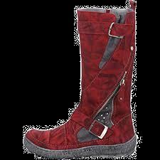 KRISBUT Damen Stiefel Langschaft mit Warmfutter 3040-11-8 Rot gebrusht