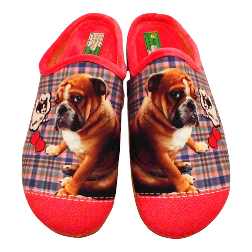 ALBEROLA HAUSSCHUH / PANTOFFEL HELLE SOHLE BULLDOGGE A8682A PINK