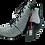 Thumbnail: SIMEN Komfort-Stiefelette 3032A Weiß/Schwarz Weite G