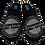Thumbnail: ALBEROLA Hausschuh/Pantoffel HELLE Sohle AC3181 SCHWARZ MIT Aufdruck ORIGINAL