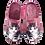 Thumbnail: SCHUHKÖNIG Hausschuh Pantoffel HELLE Sohle Katze süß Altrosé   5554053
