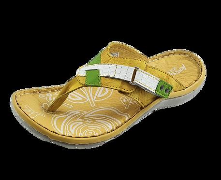 Krisbut Pantolette Flip Flop / Zehentrenner 7042-4-1 Gelb