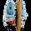 Thumbnail: ALBEROLA HAUSSCHUHE PANTOFFEL REGENSCHIRM SOUND OF RAIN A14074AS 36 - 41
