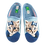 Thumbnail: ALBEROLA HAUSSCHUH / PANTOFFEL HELLE SOHLE KATZE MIT BLAUER SCHLEIFE A16631A