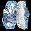 Thumbnail: Krisbut Pantolette SCHMAL 7031-5-1 Blau