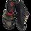 Thumbnail: Krisbut Pantolette Herren 1181-10-1 Khaki-Schwarz-Rot