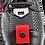 Thumbnail: Artiker Schnürer / Lackleder-Schuh schwarz/rot 46C2340