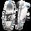 Thumbnail: Krisbut Schnürer mit Reißverschluss 5362-4-1 Grau-Blau