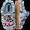 Thumbnail: ALBEROLA KINDER HAUSSCHUH / PANTOFFEL HELLE SOHLE KATZE IM AUTO HELLBLAU A8947A