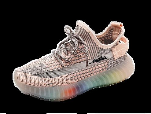 Artiker Sneaker Rosa-Grau  / Regenbogensohle 48C1371