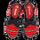 Thumbnail: Artiker Sandale Rot/Schwarz Leder 46C2305 - Gummizug
