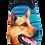 Thumbnail: SCHUHKÖNIG Hausschuh Pantoffel HELLE Sohle  Schäferhund 5554054