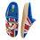 Thumbnail: ALBEROLA HAUSSCHUH / PANTOFFEL KATZE HELLE SOHLE IN DER FLAGGE A7954