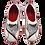 Thumbnail: Krisbut Slipper2286-3-1 Grau-Rot