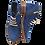 Thumbnail: Artiker Schnürstiefelette mit Reißverschluß Jeans 42C0224