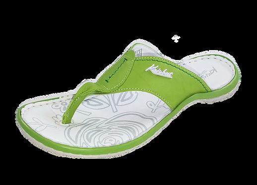 Krisbut Pantolette Flip Flop / Zehentrenner 7034-3-1 Apfelgrün