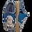 Thumbnail: ALBEROLA KINDER HAUSSCHUH / PANTOFFEL HELLE SOHLE SCHÄFCHEN HELLBLAU A8951A