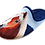 Thumbnail: SCHUHKÖNIG Hausschuh Pantoffel HELLE Sohle Pferd AM WALD 555548