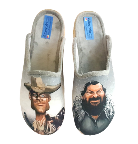 ALBEROLA HAUSSCHUH / PANTOFFEL HELLE SOHLE AC9171A TERENCE HILL & BUD SPENCER