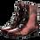Thumbnail: EKSBUT Damen Stiefelette Rot Metallic F95