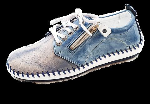 Krisbut Schnürer 2429A-5-1 Blau-grau