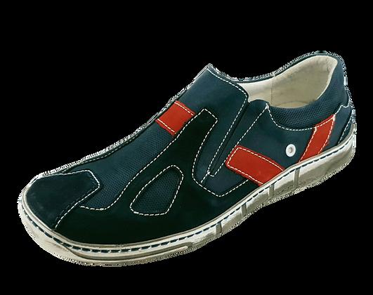 Kacper Slipper 1-6104 Dunkelblau/Rot