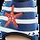 Thumbnail: ALBEROLA PANTOFFEL / HAUSSCHUH MARITIM MIT Seestern A22994A Blau