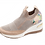 Thumbnail: Artiker Keilslipper Altrosa-Beige Stretch  48C1325