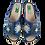 Thumbnail: ALBEROLA PANTOFFEL / HAUSSCHUH JEANSOPTIK MIT GLITZER A22821A Blau