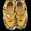 Thumbnail: Krisbut Klettschuh mit Lyralochung 2414-4-1 Gelb-Mix